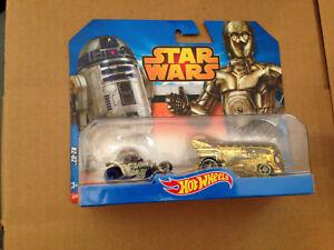 Hot-Wheels-Star-Wars-C-3PO-amp-R2-D2-Diecast-Vehicles-Mattel-2014