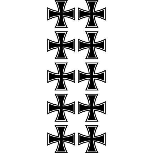 10 Autocollant 5cm Modélisme Tatouage Croix de Fer Auto Avion Modèle Déco Film