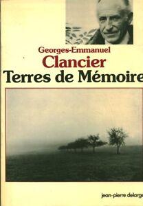 Livre-terres-de-memoire-Georges-Emmanuel-Clancier-book-ideal-pour-cadeau