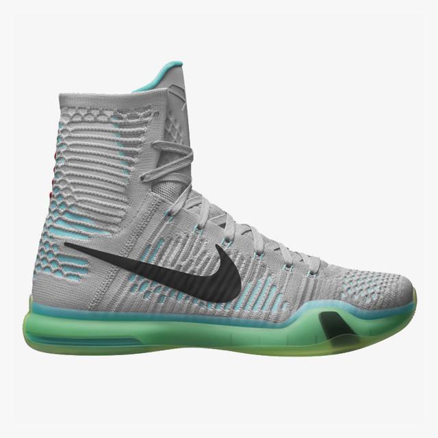 Nike Nike Nike kobe 10 x elite erheben wolf grau - grünen größe 13.718763-041 jordan 3beeaf