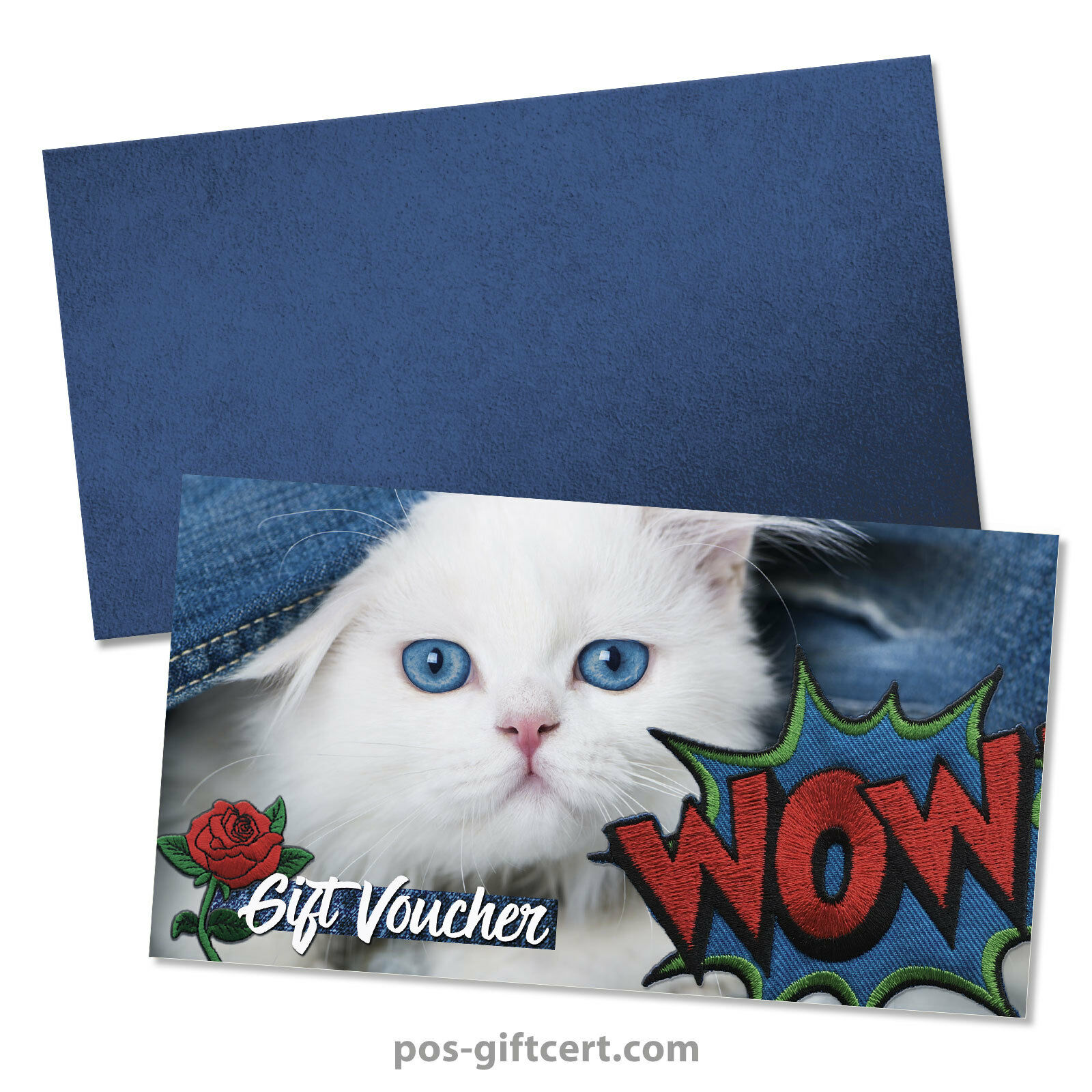 Gift vouchers + envelopes for fashion clothing boutique jeans FA1261GB