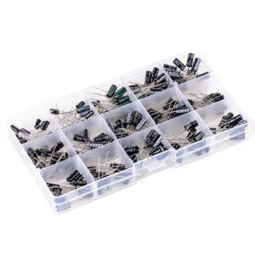 Box BE 200pcs DIY 15 Values 0.1uF-220uF Electrolytic Capacitor Assortment Kit