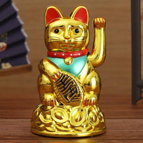"5/"" 6/"",7/"",10/"" Feng Shui Beckoning Waving Wealth Prosperity Cat Kitty MANEKI NEKO"