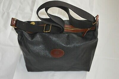 Mulberry Vintage Navy Blue Scotchgrain Leather Zip Medium Weekend Shoulder Bag Hochglanzpoliert
