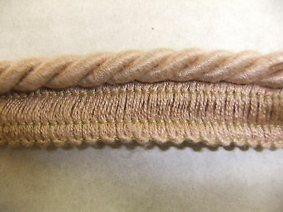 8MM FLANGED CORD ROPE PIPING DUSTY PINK  HT 02