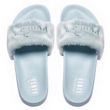 Details zu Puma x Rihanna Fenty Fur Slide Wns Cool Blue Women Sandal Shoes 365772 03