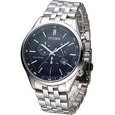 Citizen Eco-Drive Blue Chronograph Sapphire 100m Men's Watch AT2140-55L