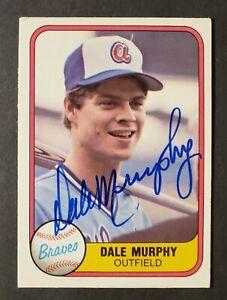 Dale-Murphy-Vintage-Signed-1981-Fleer-243-CARD-AUTOGRAPHED-Atlanta-Braves