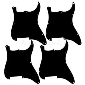4-Guitar-Blank-3-Ply-Black-Pickguard-Scratch-Plate-for-Fender-Stratocaster-Strat