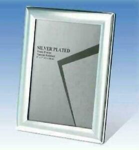 """Silver Plated 3.5/"""" x 5/"""" Curved Edge Photo Frame"""