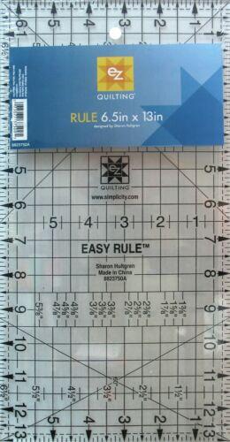 """Simplicidad EZ regla de 6.5/"""" por 13/"""" Q34 Acrílico Regla Quilting Patchwork Costura"""