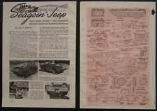 WWII ARMY Amphibious Jeep Model GPA 1945 HowTo build PLANS