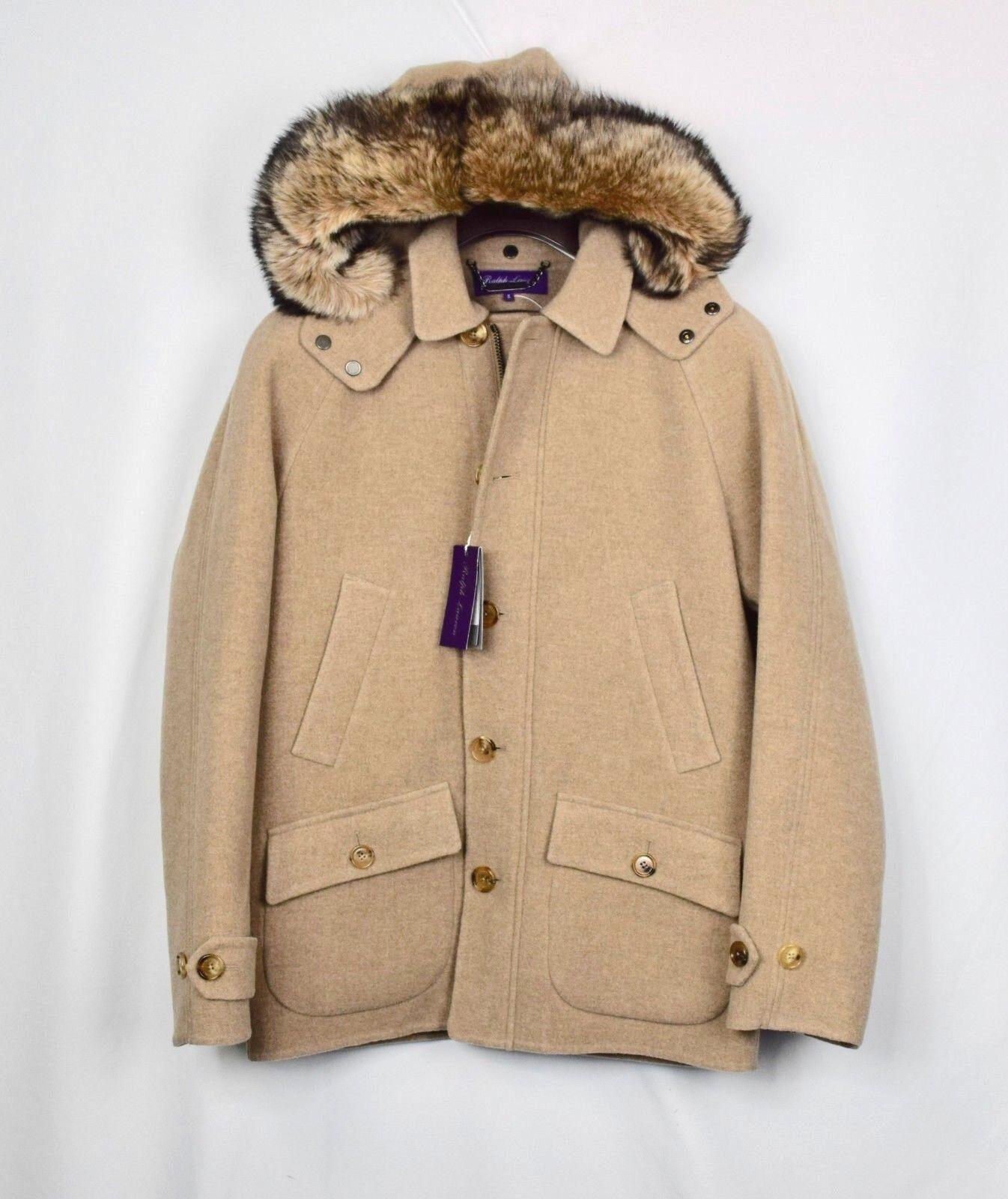 Ralph Lauren lila Label 3-in-1 Wolle Wolle Wolle und Pelz Parka GRÖSSE S     | Fierce Kaufen  fa0485