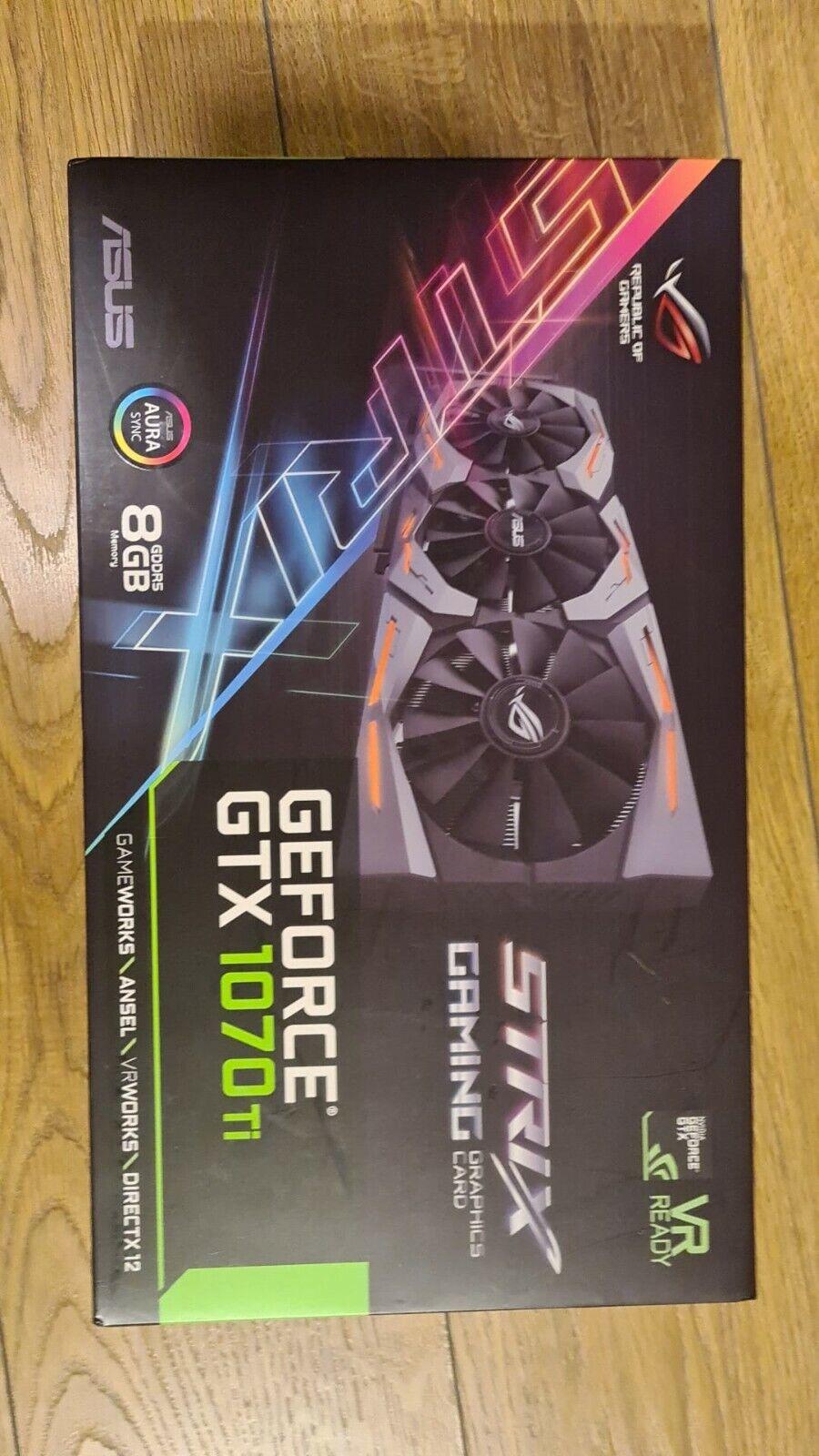 ASUS Geforce GTX 1070ti ROG Strix 8gb GDDR5- VR Ready OC