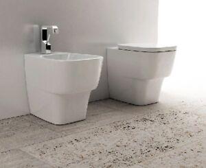 Sanitari bagno design a terra filo muro da appoggio vaso bidet e ...