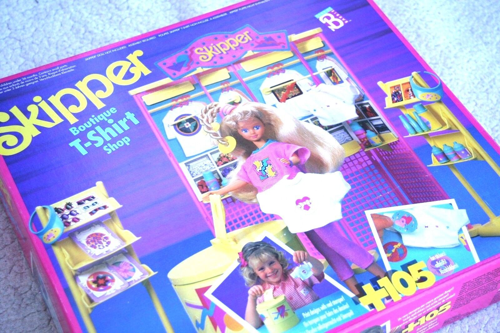 Vintage BARBIE (1990)  SKIPPER BOUTIQUE TSHIRT SHOP  MINT  VHTF, BRAND NEW, OS