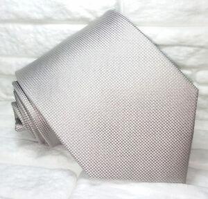 Cravatta-uomo-grigio-chiaro-Nuova-100-seta-Made-in-Italy-realizzata-a-mano