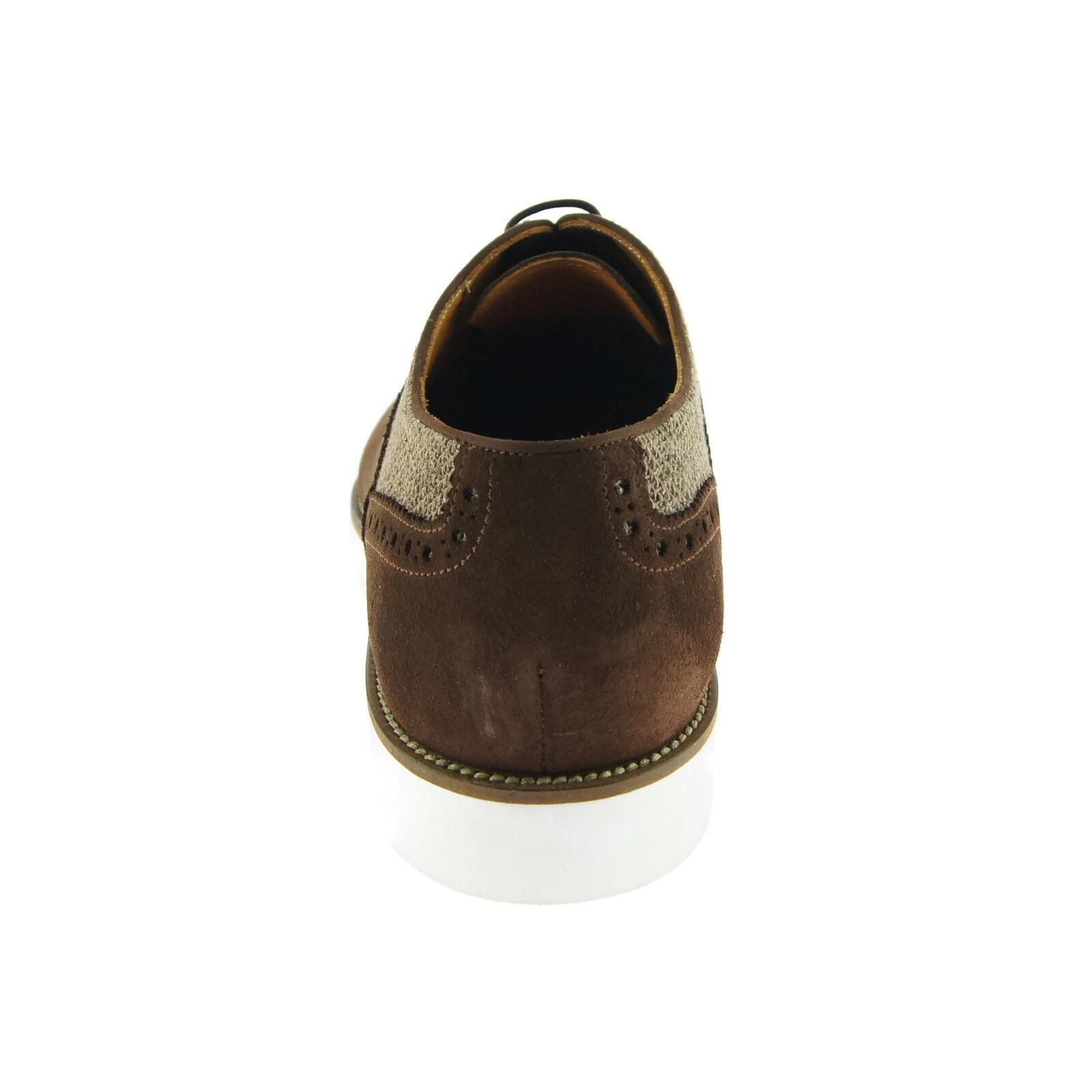 Alex vestido Hampton Brogue Oxford D, vestido Alex de Zapatos informales Para Hombre/, Gamuza Marrón 7b1765