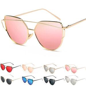 Fashion-Women-Ladies-Metal-Cat-Eye-Oversized-Designer-Retro-Vintage-Sunglasses