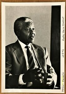 vintage large photo Nelson Mandela by David Goldblatt South Africa 1993 foto