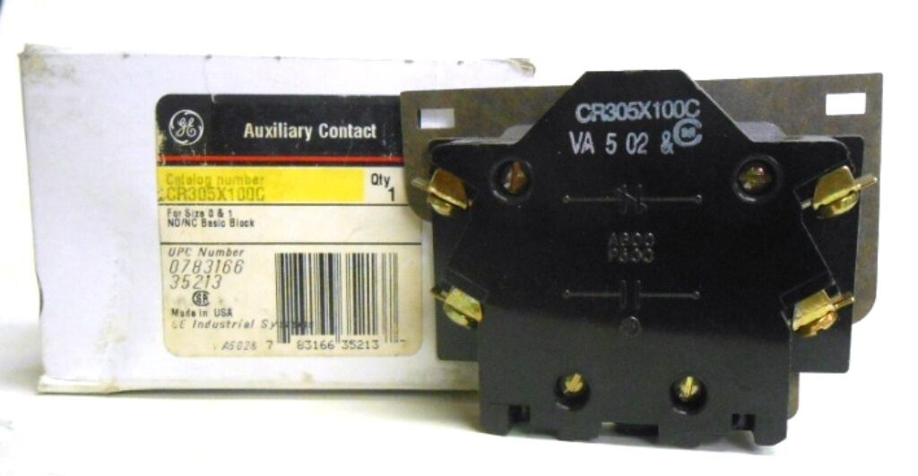 GE General Electric CR305X100A XD 600vac Auxiliary Contact for sale online