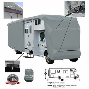 Deluxe-4-Layer-Class-C-RV-Motorhome-Camper-Cover-Fits-30-039-32-039-L-Zipper-Access