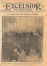 Président Raymond Poincaré Jeu de Paume Cadeaux de Noël Poilus Soldats WWI 1914