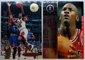 Rare-Lot-of-2-1995-95-Upper-Deck-SP-Michael-Jordan-4-amp-41-Insert-Bulls