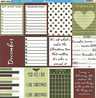 REM - December Planner Cards 12x12 Paper - Double Sided - 51649 - Planit  Now 895707516493 | eBay