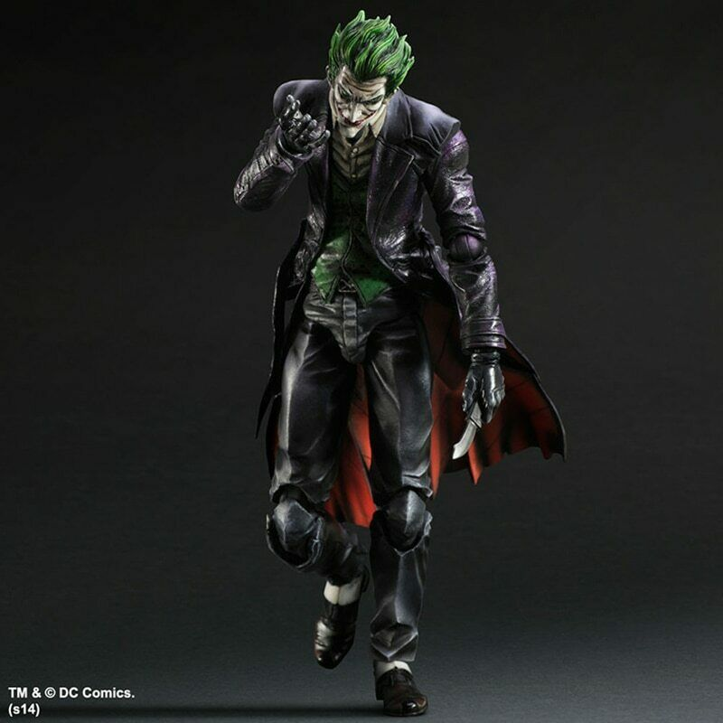Play Arts KAI Batman Arkham Origins  The Joker PVC Action Figure Collectible