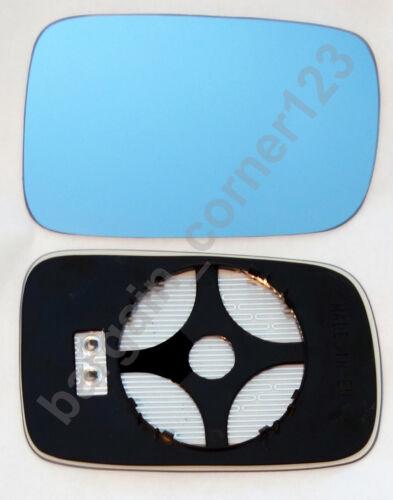 Derecho Lado Del Conductor Ala Espejo De Cristal Calentada Azul Convexo BMW 3 E46 Coupe 98-05