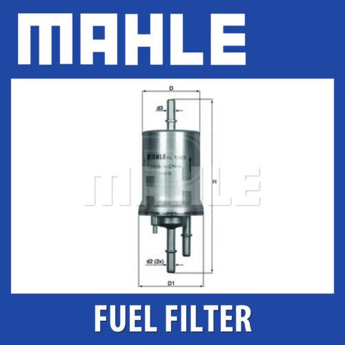 4 Bar VW Fits Audi Skoda Mahle Fuel Filter KL156//3 Seat