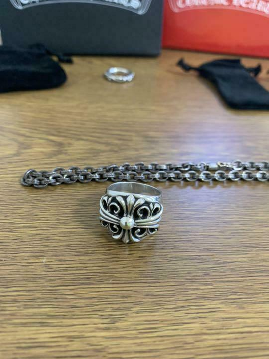 Chrome Hearts 2-Piece Set Keeper Ring Paper Chain