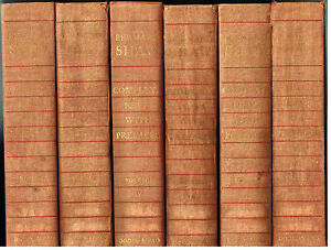 Bernard-Shaw-Complete-Plays-with-Prefaces-Vol-1-6-1st-Ed-1962-Rare-Book