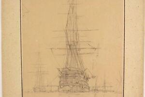Anton-MELBYE-1818-1875-Im-Hafen-Ankernder-Dreimaster-Denmark-Schiff-Denmark