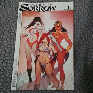 Swords-of-Sorrow-1-Jenny-Frison-Variant-Dynamite-Comic-Book-VG