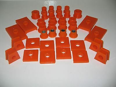 MGB GT Bushes Front /& Rear Bush Kit Cross Member Pads Polyurethane Poly MGB