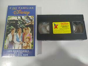 Los-Robinsones-de-los-Mares-del-Sur-Walt-Disney-VHS-Cinta-Espanol-2T