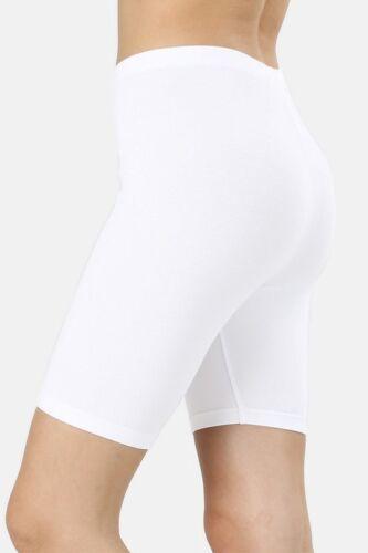 Womens Biker Shorts Leggings Mid Thigh Cotton Thick Yoga Pants Fitness Bermuda