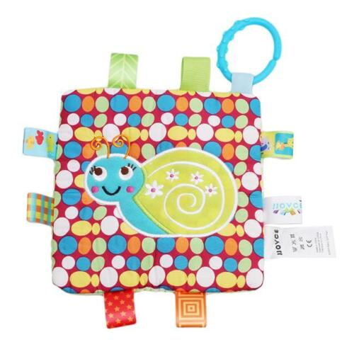 Infant Appease Reassure Towel Blankie Cotton Baby Educational Label Plush Toy LH