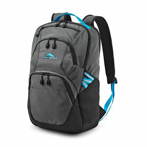 High Sierra Swoop SG Backpack Bookbag with Laptop Drop Protection Pocket, Gray