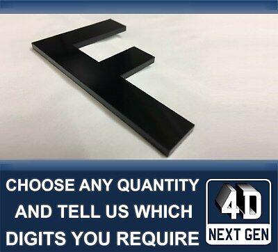 x1 4D Next Gen Laser Cut DIY Number Plate Characters Letter BLACK Letters Kit K