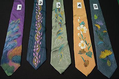 Hand-painted silk tie