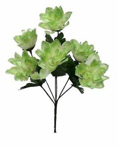 6 dahlia flowers sage green silk flower bush wedding bridal bouquet image is loading 6 dahlia flowers sage green silk flower bush mightylinksfo