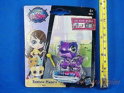 LIttlest Pet Shop LPS Purple Rainbow Maguire Chameleon #4067 A84R Figure Toy