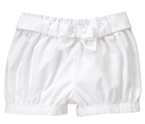 Gymboree Cactus Cutie Nwt Baby Girls Bubble White Shorts Bow 0-3 M