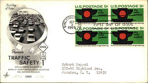 1965-USA-Cover-Stamp-Issue-Promoting-Traffic-Safety-Cars-Cancel-Baltimore-FDC