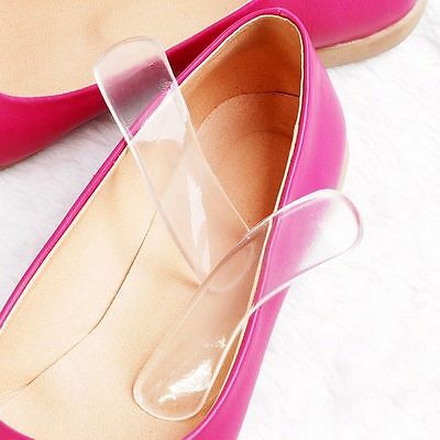 1Pair Silicone Gel Heel Cushion Protector Foot Feet Care Shoe Insert Pad Insole
