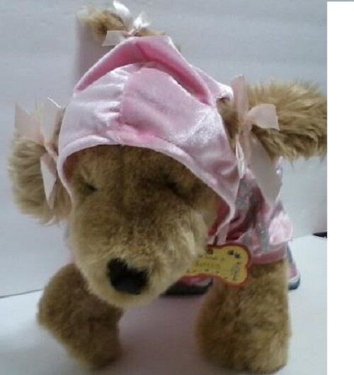 "Build A Bear Plush Stuffed Puppy Dog Pink Hoodie Outfit Sketchers Shoes 16"" Tall"