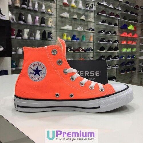 Converse All Star Hi Canvas Hyper orange Arancioni 2017 ORIGINALI ® ITALIA 2018